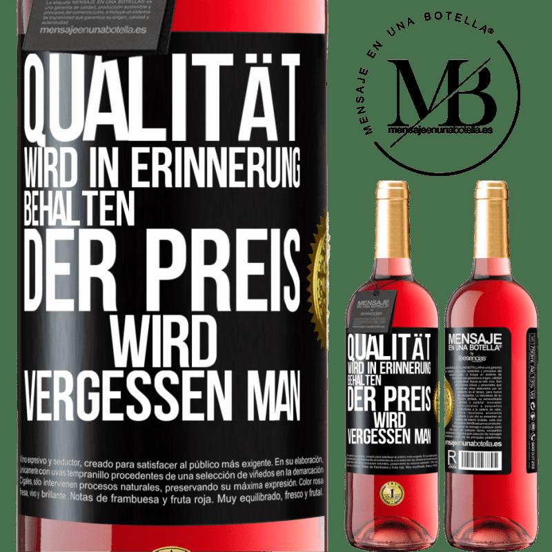 24,95 € Kostenloser Versand | Roséwein ROSÉ Ausgabe Qualität wird in Erinnerung behalten, Preis wird vergessen Schwarzes Etikett. Anpassbares Etikett Junger Wein Ernte 2020 Tempranillo