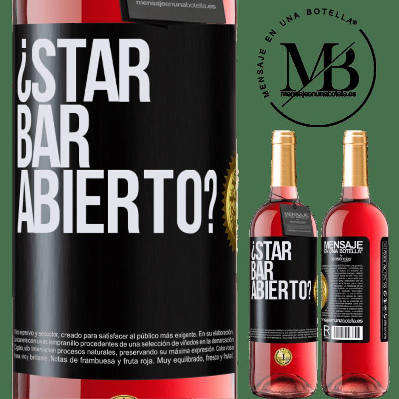 24,95 € Envoi gratuit | Vin rosé Édition ROSÉ ¿STAR BAR abierto? Étiquette Noire. Étiquette personnalisable Vin jeune Récolte 2020 Tempranillo