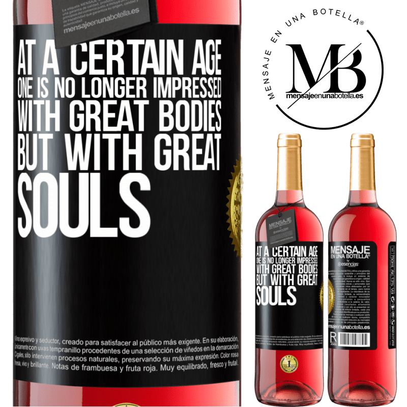 24,95 € Free Shipping   Rosé Wine ROSÉ Edition At a certain age one is no longer impressed with great bodies, but with great souls Black Label. Customizable label Young wine Harvest 2020 Tempranillo