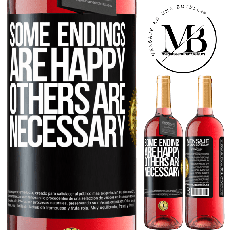 24,95 € Free Shipping | Rosé Wine ROSÉ Edition Some endings are happy. Others are necessary Black Label. Customizable label Young wine Harvest 2020 Tempranillo