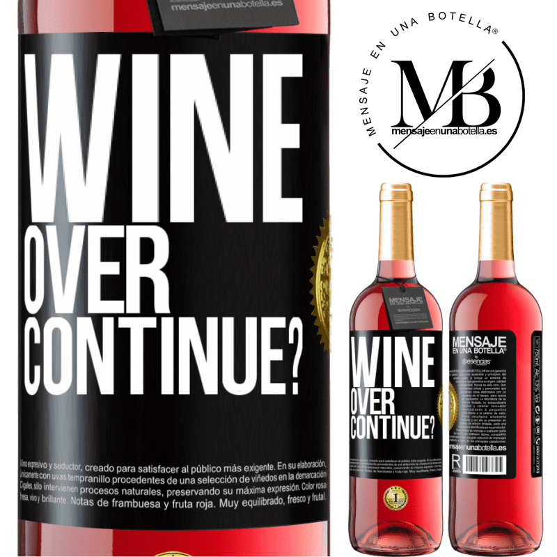 24,95 € Free Shipping   Rosé Wine ROSÉ Edition Wine over. Continue? Black Label. Customizable label Young wine Harvest 2020 Tempranillo