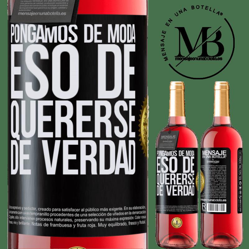 24,95 € Envoi gratuit | Vin rosé Édition ROSÉ Mettons cette mode vraiment amoureuse Étiquette Noire. Étiquette personnalisable Vin jeune Récolte 2020 Tempranillo