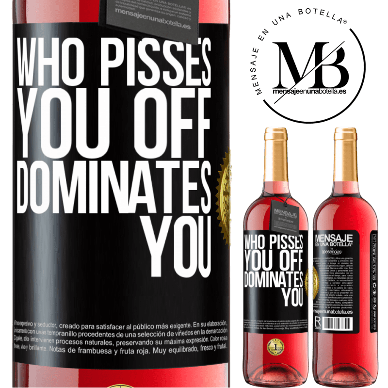 24,95 € Free Shipping   Rosé Wine ROSÉ Edition Who pisses you off, dominates you Black Label. Customizable label Young wine Harvest 2020 Tempranillo