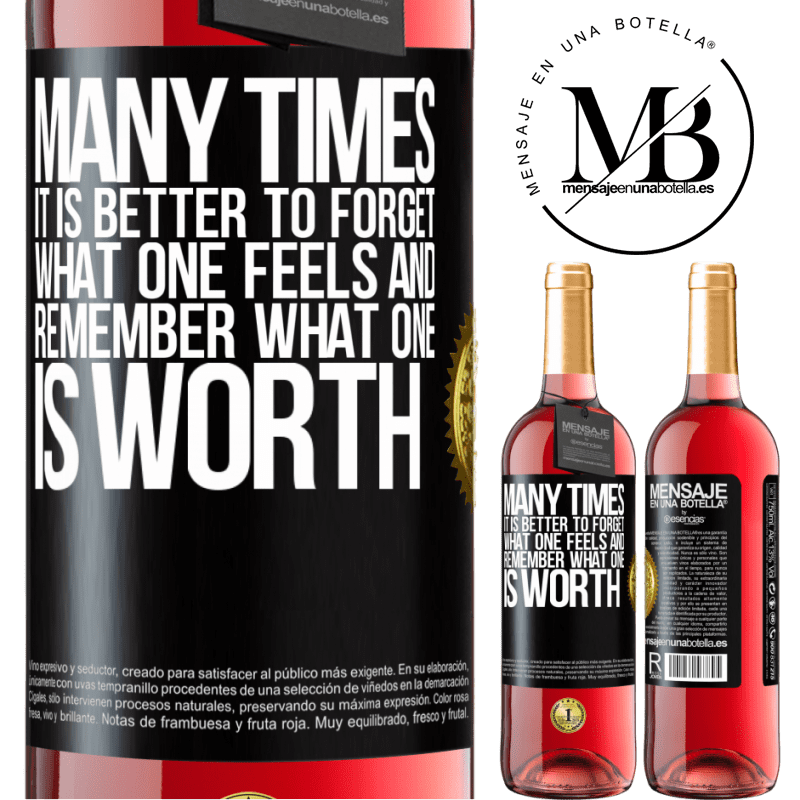 24,95 € Free Shipping | Rosé Wine ROSÉ Edition Many times it is better to forget what one feels and remember what one is worth Black Label. Customizable label Young wine Harvest 2020 Tempranillo