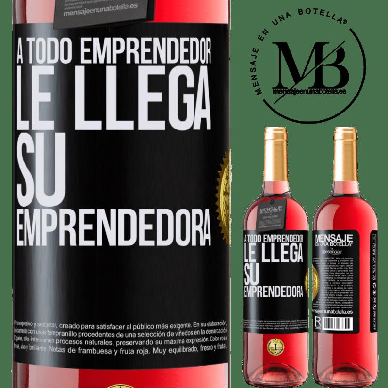 24,95 € Envoi gratuit   Vin rosé Édition ROSÉ Chaque entrepreneur obtient son entrepreneur Étiquette Noire. Étiquette personnalisable Vin jeune Récolte 2020 Tempranillo