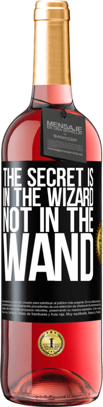 24,95 € Free Shipping | Rosé Wine ROSÉ Edition The secret is in the wizard, not in the wand Black Label. Customizable label Young wine Harvest 2020 Tempranillo