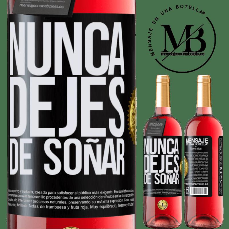 24,95 € Envoi gratuit   Vin rosé Édition ROSÉ Ne cesse jamais de réver Étiquette Noire. Étiquette personnalisable Vin jeune Récolte 2020 Tempranillo