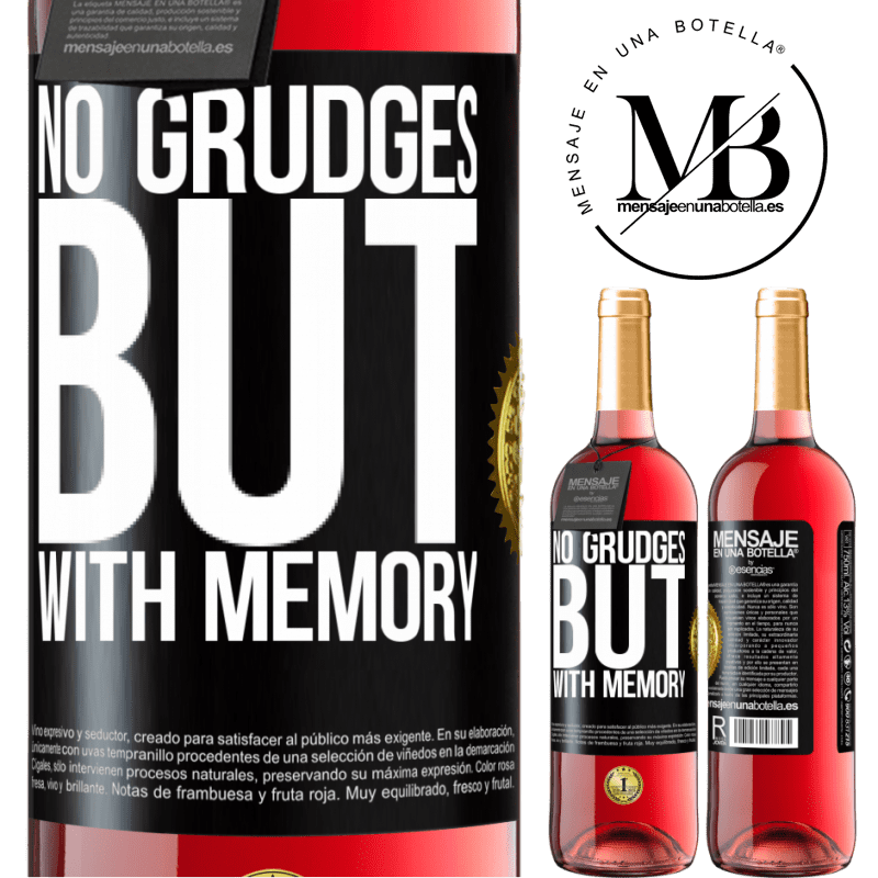 24,95 € Free Shipping | Rosé Wine ROSÉ Edition No grudges, but with memory Black Label. Customizable label Young wine Harvest 2020 Tempranillo