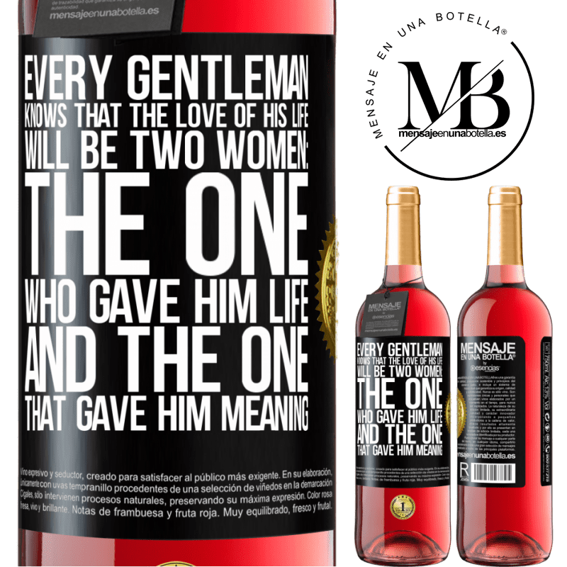 24,95 € Free Shipping | Rosé Wine ROSÉ Edition Every gentleman knows that the love of his life will be two women: the one who gave him life and the one that gave him Black Label. Customizable label Young wine Harvest 2020 Tempranillo