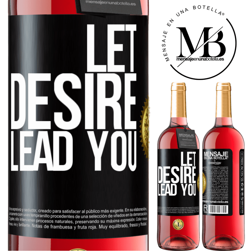 24,95 € Free Shipping | Rosé Wine ROSÉ Edition Let desire lead you Black Label. Customizable label Young wine Harvest 2020 Tempranillo