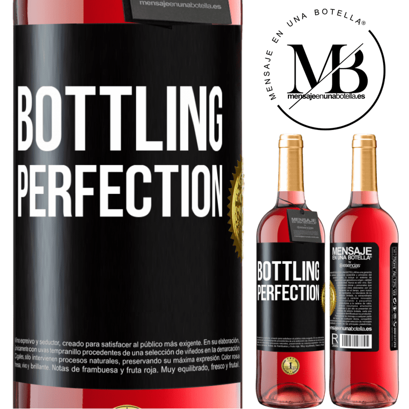 24,95 € Free Shipping | Rosé Wine ROSÉ Edition Bottling perfection Black Label. Customizable label Young wine Harvest 2020 Tempranillo