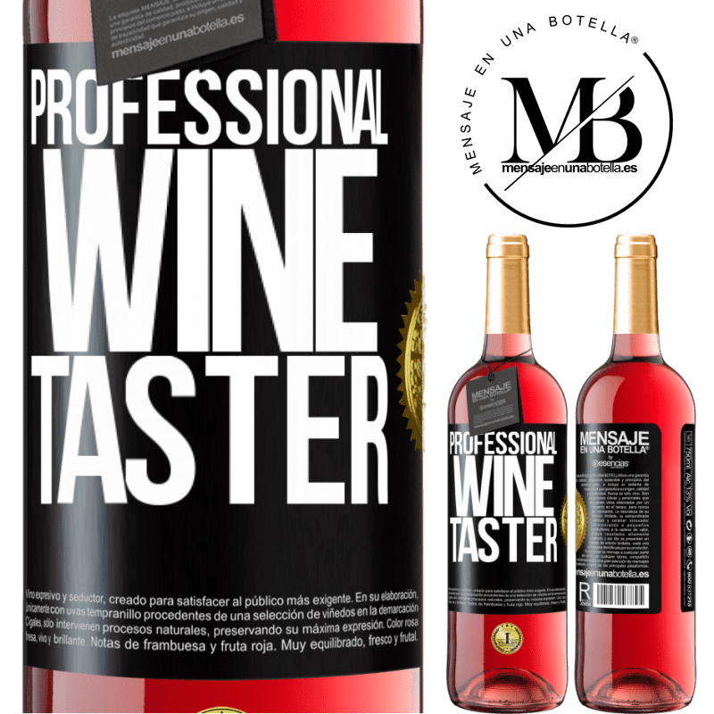 24,95 € Free Shipping   Rosé Wine ROSÉ Edition Professional wine taster Black Label. Customizable label Young wine Harvest 2020 Tempranillo