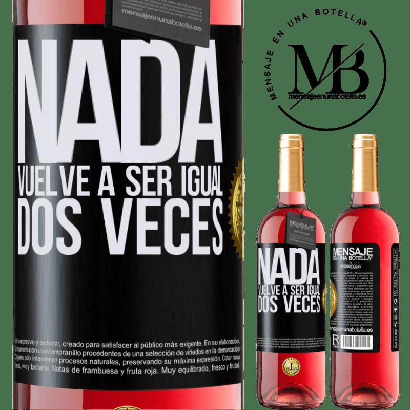 24,95 € Envoi gratuit   Vin rosé Édition ROSÉ Rien n'est plus pareil deux fois Étiquette Noire. Étiquette personnalisable Vin jeune Récolte 2020 Tempranillo