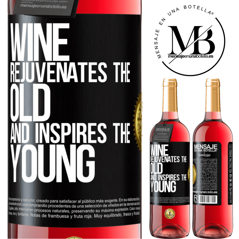 24,95 € Free Shipping | Rosé Wine ROSÉ Edition Wine rejuvenates the old and inspires the young Black Label. Customizable label Young wine Harvest 2020 Tempranillo