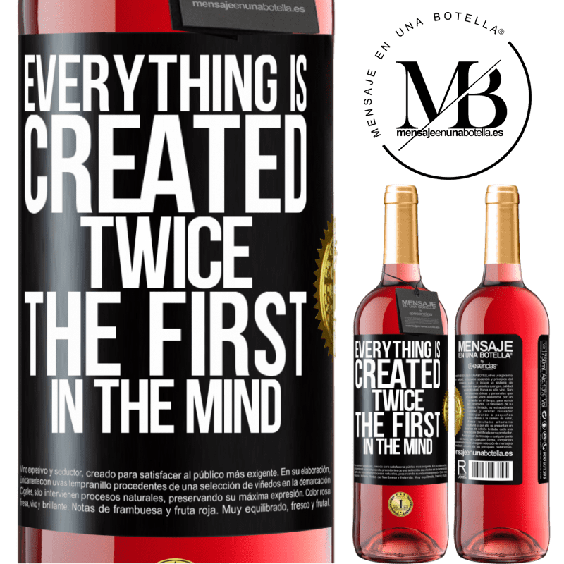 24,95 € Free Shipping | Rosé Wine ROSÉ Edition Everything is created twice. The first in the mind Black Label. Customizable label Young wine Harvest 2020 Tempranillo