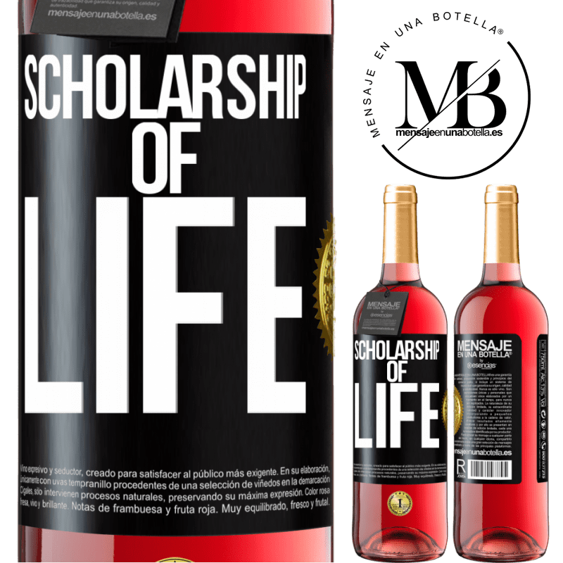 24,95 € Free Shipping | Rosé Wine ROSÉ Edition Scholarship of life Black Label. Customizable label Young wine Harvest 2020 Tempranillo