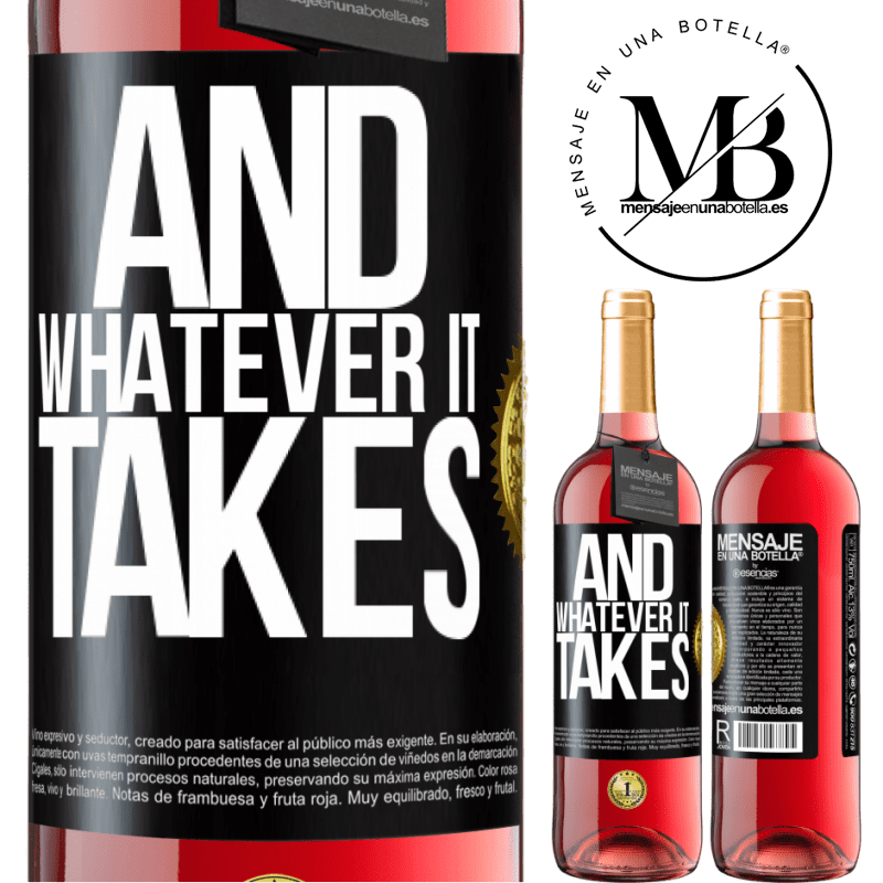 24,95 € Free Shipping | Rosé Wine ROSÉ Edition And whatever it takes Black Label. Customizable label Young wine Harvest 2020 Tempranillo