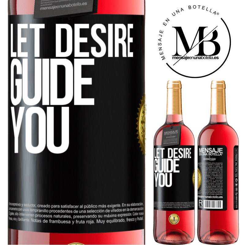 24,95 € Free Shipping   Rosé Wine ROSÉ Edition Let desire guide you Black Label. Customizable label Young wine Harvest 2020 Tempranillo