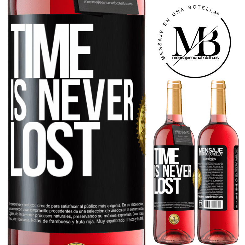 24,95 € Free Shipping | Rosé Wine ROSÉ Edition Time is never lost Black Label. Customizable label Young wine Harvest 2020 Tempranillo