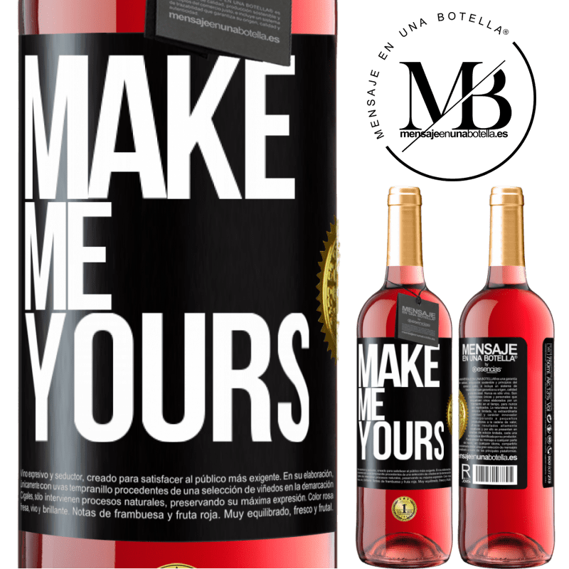 24,95 € Free Shipping   Rosé Wine ROSÉ Edition Make me yours Black Label. Customizable label Young wine Harvest 2020 Tempranillo