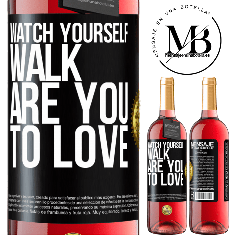 24,95 € Free Shipping   Rosé Wine ROSÉ Edition Watch yourself walk. Are you to love Black Label. Customizable label Young wine Harvest 2020 Tempranillo