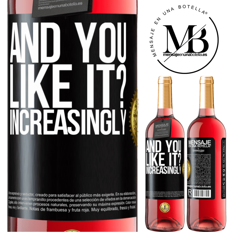 24,95 € Free Shipping   Rosé Wine ROSÉ Edition and you like it? Increasingly Black Label. Customizable label Young wine Harvest 2020 Tempranillo