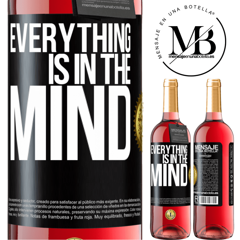 24,95 € Free Shipping | Rosé Wine ROSÉ Edition Everything is in the mind Black Label. Customizable label Young wine Harvest 2020 Tempranillo