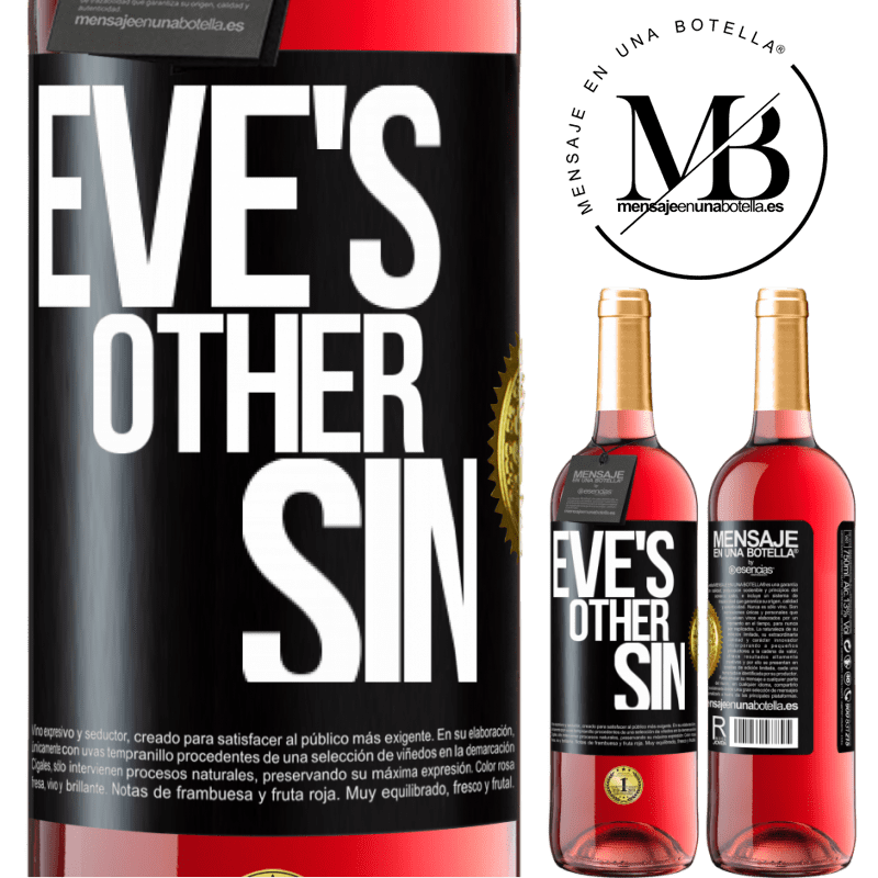 24,95 € Free Shipping | Rosé Wine ROSÉ Edition Eve's other sin Black Label. Customizable label Young wine Harvest 2020 Tempranillo