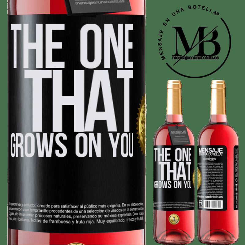 24,95 € Envoi gratuit   Vin rosé Édition ROSÉ The one that grows on you Étiquette Noire. Étiquette personnalisable Vin jeune Récolte 2020 Tempranillo