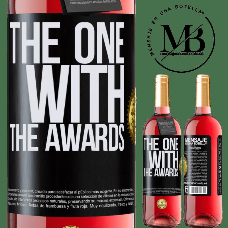 24,95 € Envoi gratuit   Vin rosé Édition ROSÉ The one with the awards Étiquette Noire. Étiquette personnalisable Vin jeune Récolte 2020 Tempranillo