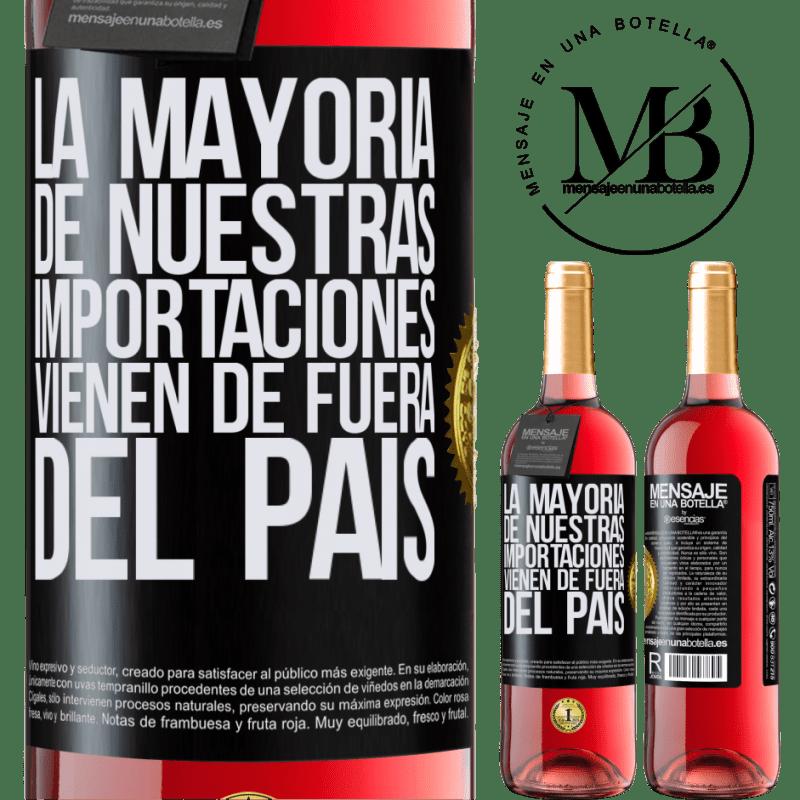 24,95 € Envoi gratuit   Vin rosé Édition ROSÉ La plupart de nos importations proviennent de l'extérieur du pays Étiquette Noire. Étiquette personnalisable Vin jeune Récolte 2020 Tempranillo