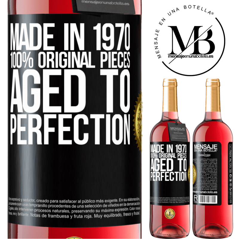 24,95 € Free Shipping   Rosé Wine ROSÉ Edition Made in 1970, 100% original pieces. Aged to perfection Black Label. Customizable label Young wine Harvest 2020 Tempranillo