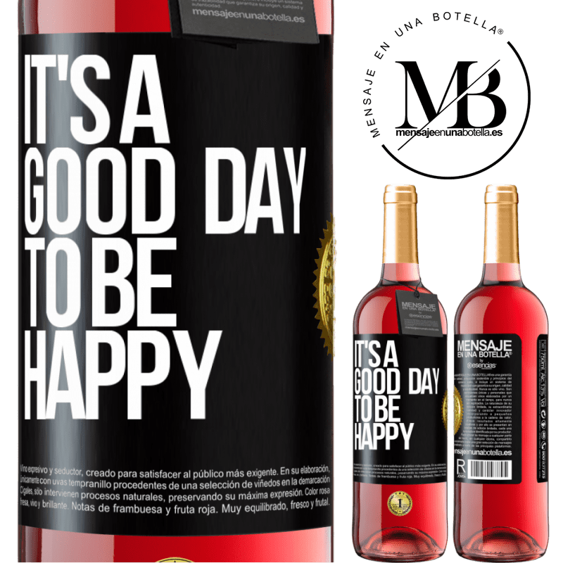 24,95 € Free Shipping | Rosé Wine ROSÉ Edition It's a good day to be happy Black Label. Customizable label Young wine Harvest 2020 Tempranillo