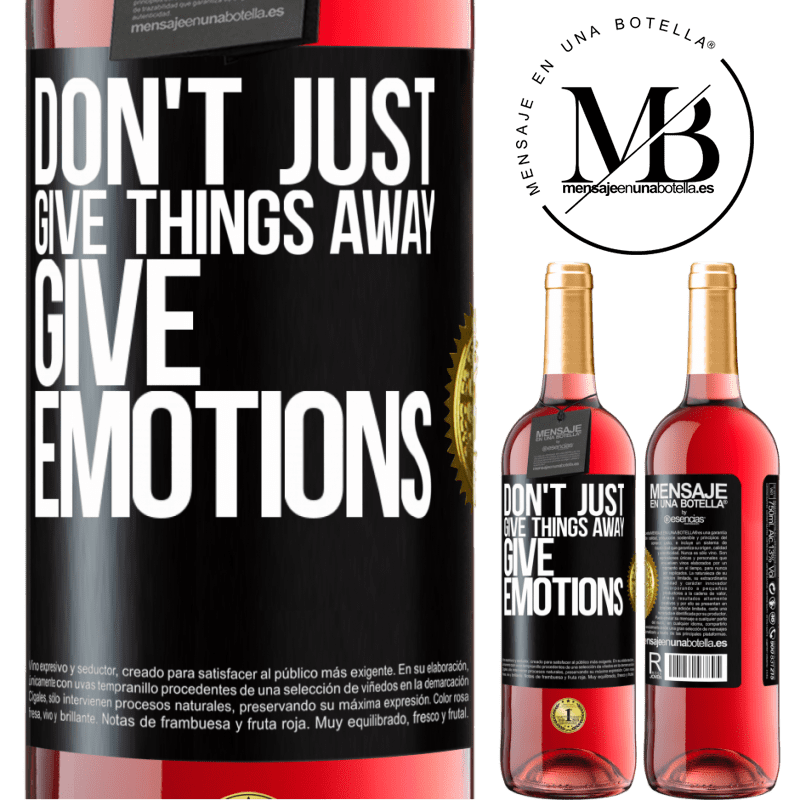 24,95 € Free Shipping | Rosé Wine ROSÉ Edition Don't just give things away, give emotions Black Label. Customizable label Young wine Harvest 2020 Tempranillo