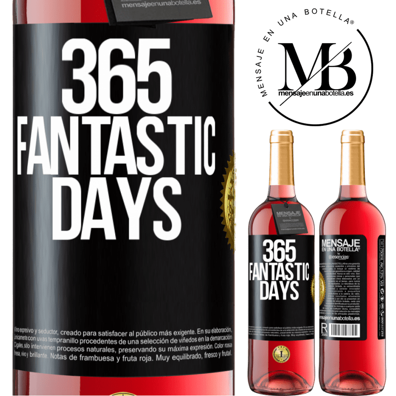 24,95 € Free Shipping   Rosé Wine ROSÉ Edition 365 fantastic days Black Label. Customizable label Young wine Harvest 2020 Tempranillo