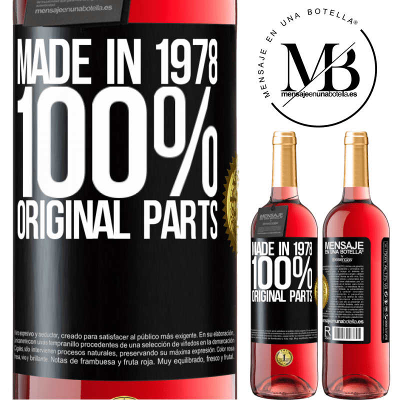 24,95 € Free Shipping | Rosé Wine ROSÉ Edition Made in 1978. 100% original parts Black Label. Customizable label Young wine Harvest 2020 Tempranillo