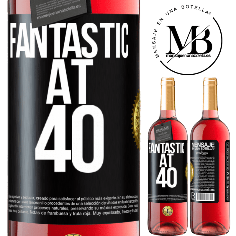 24,95 € Free Shipping   Rosé Wine ROSÉ Edition Fantastic at 40 Black Label. Customizable label Young wine Harvest 2020 Tempranillo