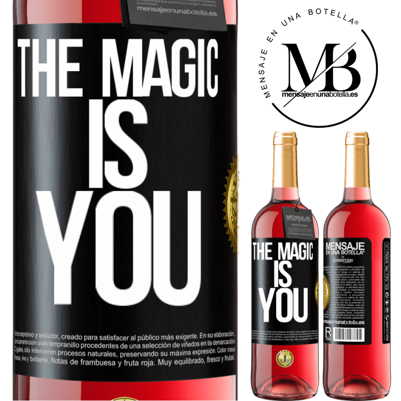 24,95 € Free Shipping | Rosé Wine ROSÉ Edition The magic is you Black Label. Customizable label Young wine Harvest 2020 Tempranillo