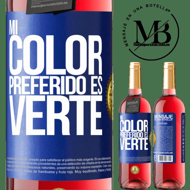 24,95 € Envoi gratuit | Vin rosé Édition ROSÉ Mi color preferido es: verte Étiquette Bleue. Étiquette personnalisable Vin jeune Récolte 2020 Tempranillo