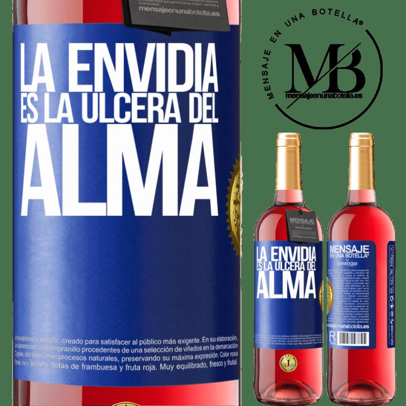 24,95 € Envoi gratuit | Vin rosé Édition ROSÉ L'envie est l'ulcère de l'âme Étiquette Bleue. Étiquette personnalisable Vin jeune Récolte 2020 Tempranillo