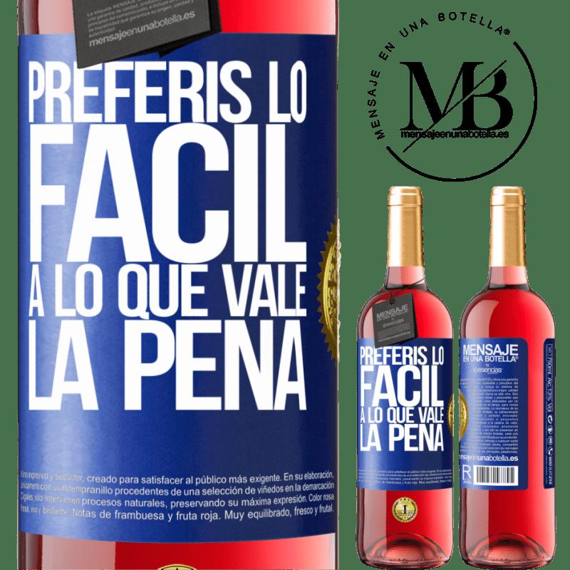24,95 € Envoi gratuit | Vin rosé Édition ROSÉ Vous préférez le facile à la valeur Étiquette Bleue. Étiquette personnalisable Vin jeune Récolte 2020 Tempranillo