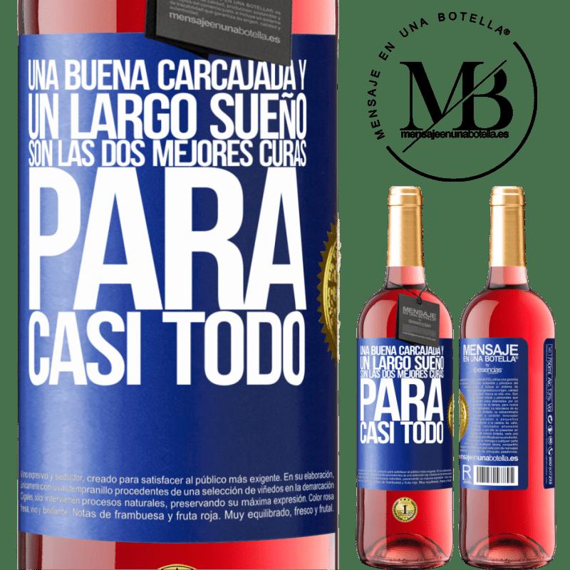 24,95 € Envoi gratuit | Vin rosé Édition ROSÉ Un bon rire et un long rêve sont les deux meilleurs remèdes pour presque tout Étiquette Bleue. Étiquette personnalisable Vin jeune Récolte 2020 Tempranillo