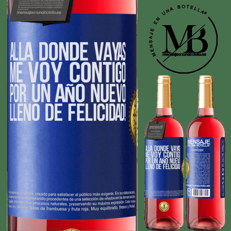 24,95 € Envoi gratuit   Vin rosé Édition ROSÉ Où que vous alliez, je vous accompagne. Pour une nouvelle année pleine de bonheur! Étiquette Bleue. Étiquette personnalisable Vin jeune Récolte 2020 Tempranillo