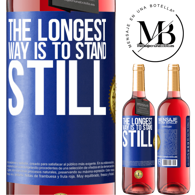 24,95 € Free Shipping   Rosé Wine ROSÉ Edition The longest way is to stand still Blue Label. Customizable label Young wine Harvest 2020 Tempranillo