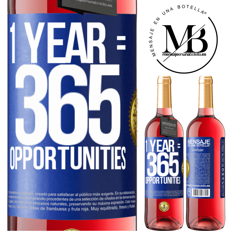 24,95 € Free Shipping | Rosé Wine ROSÉ Edition 1 year 365 opportunities Blue Label. Customizable label Young wine Harvest 2020 Tempranillo