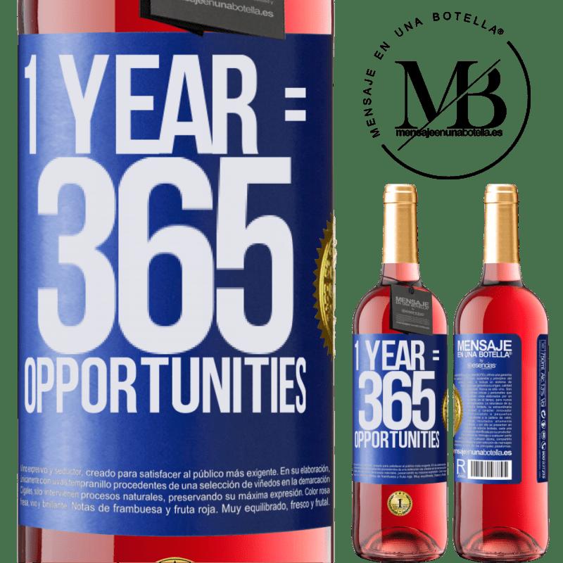 24,95 € Envoi gratuit | Vin rosé Édition ROSÉ 1 year 365 opportunities Étiquette Bleue. Étiquette personnalisable Vin jeune Récolte 2020 Tempranillo