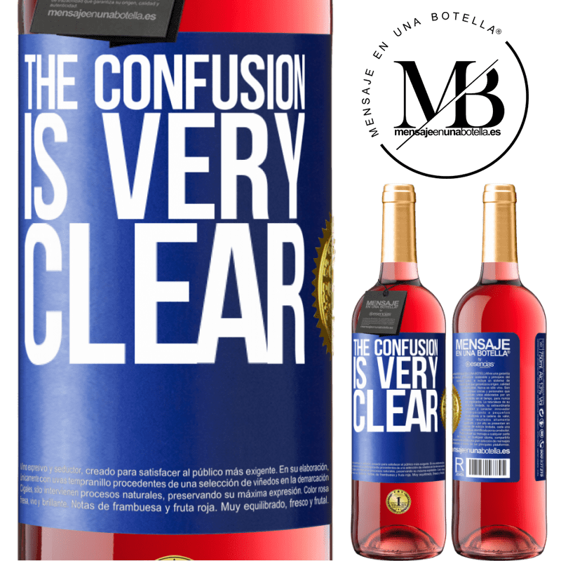 24,95 € Free Shipping | Rosé Wine ROSÉ Edition The confusion is very clear Blue Label. Customizable label Young wine Harvest 2020 Tempranillo