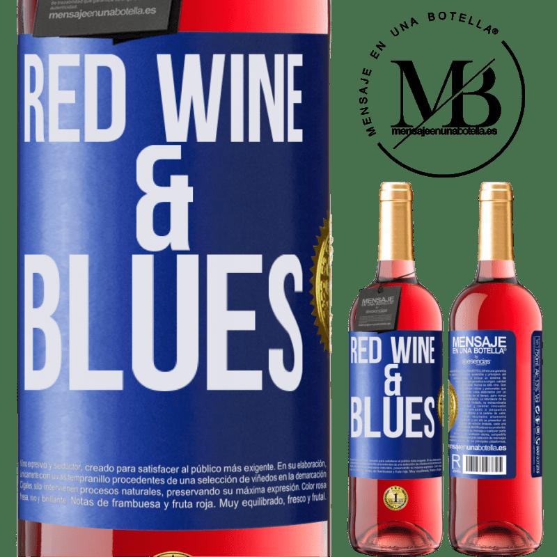24,95 € Envoi gratuit | Vin rosé Édition ROSÉ Red wine & Blues Étiquette Bleue. Étiquette personnalisable Vin jeune Récolte 2020 Tempranillo