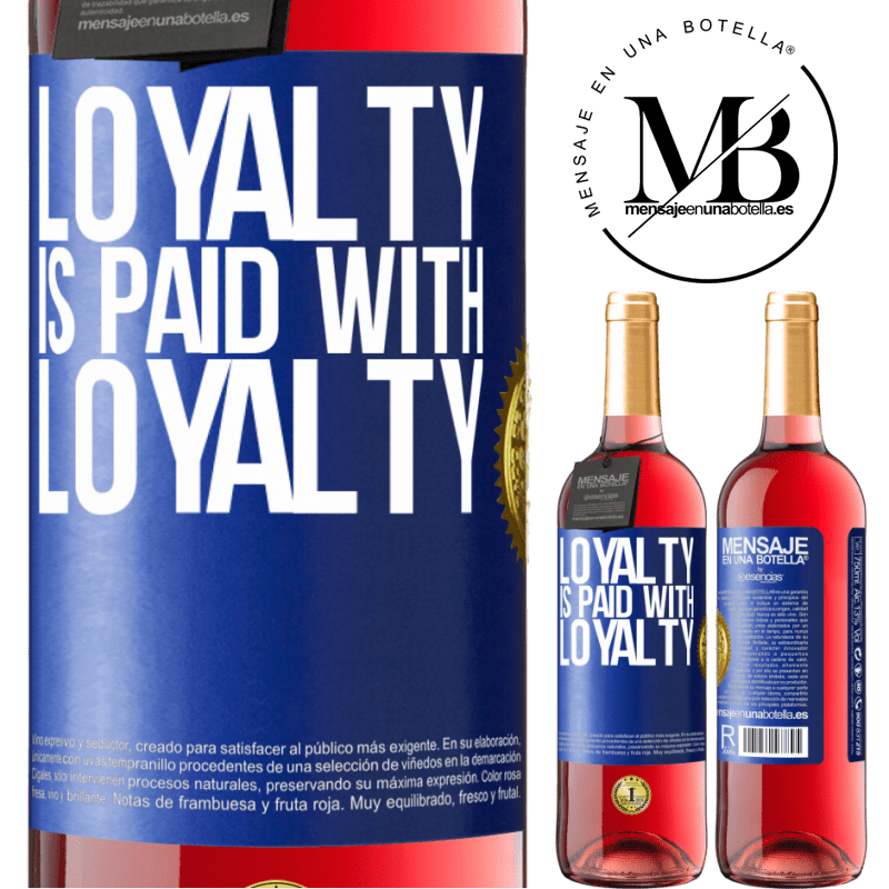 24,95 € Free Shipping   Rosé Wine ROSÉ Edition Loyalty is paid with loyalty Blue Label. Customizable label Young wine Harvest 2020 Tempranillo