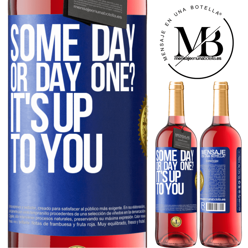 24,95 € Free Shipping | Rosé Wine ROSÉ Edition some day, or day one? It's up to you Blue Label. Customizable label Young wine Harvest 2020 Tempranillo